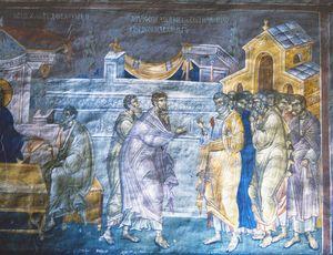 Christ with Apostols