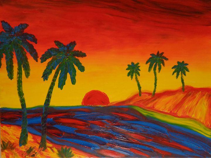 Painting Finger Painted MKART - MKinnamanArt
