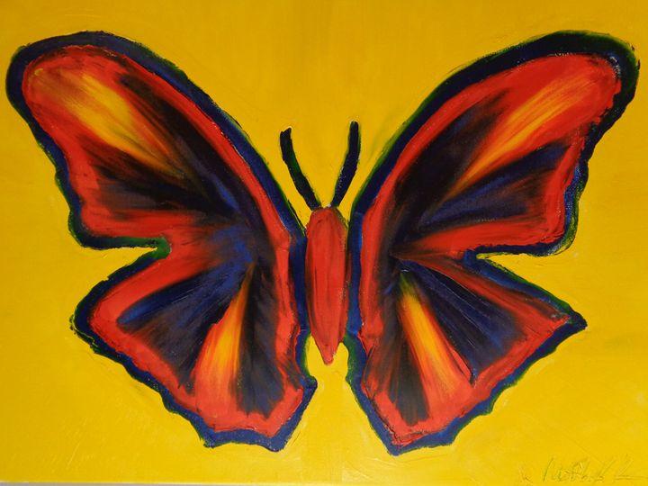 Ninja Butterfly Finger Painted MKART - MKinnamanArt