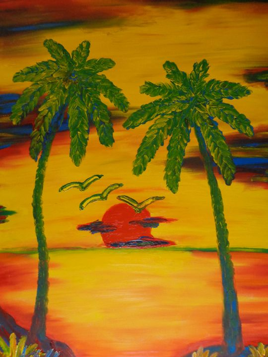 3 Birds 2 Trees 1 Sunset MKART - MKinnamanArt
