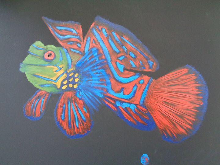 Mandarin Finger Painted Fish - MKinnamanArt