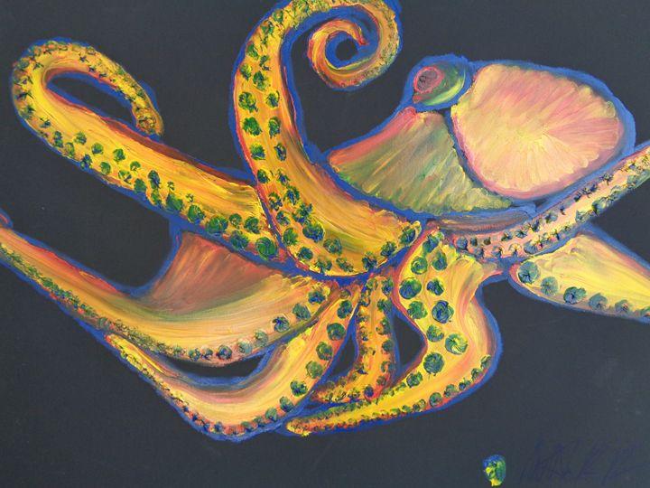 ColorPus Finger Painted Octopus - MKinnamanArt