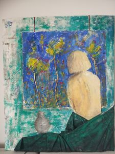 Woman and picture - Daniel Wille