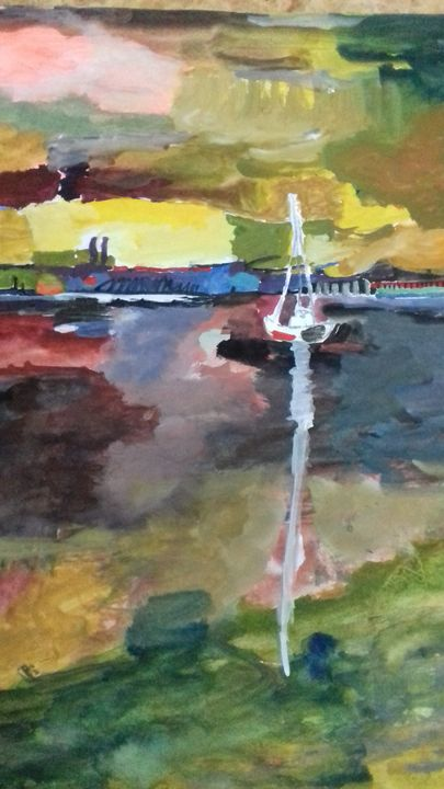 Boating on a mid summer noon - Canvases
