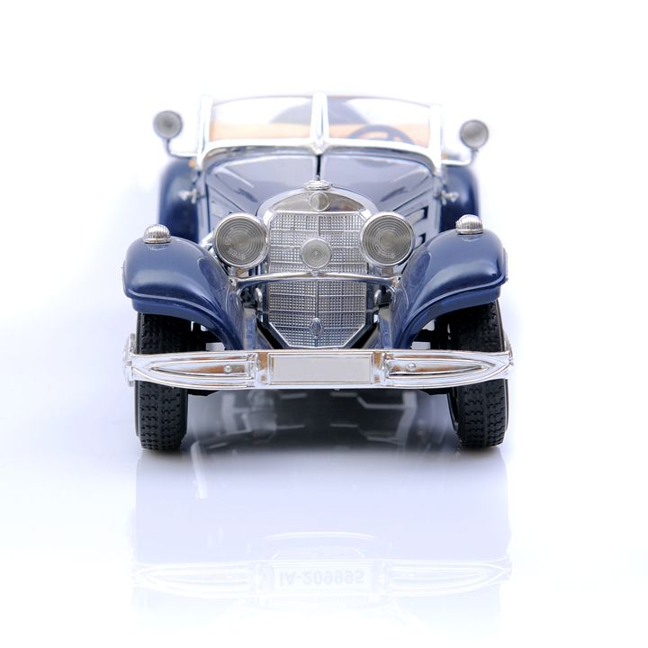 Blue toy car. - photography
