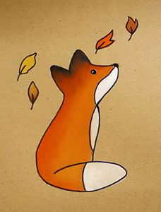 A Fox On Paper Notebook Cover