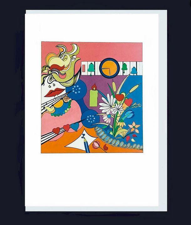 PINK LADY GREETING CARD - Petra Baral