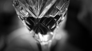 Black & White wine glass half full - Picture Village