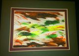 8 x 10 abstract yellow/green/brown