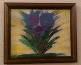 8 x 10 purple & blue flowers