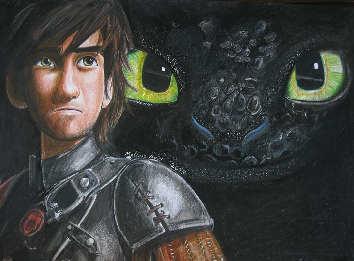 Hiccup and Toothless - The Artwork of Meliese Reid