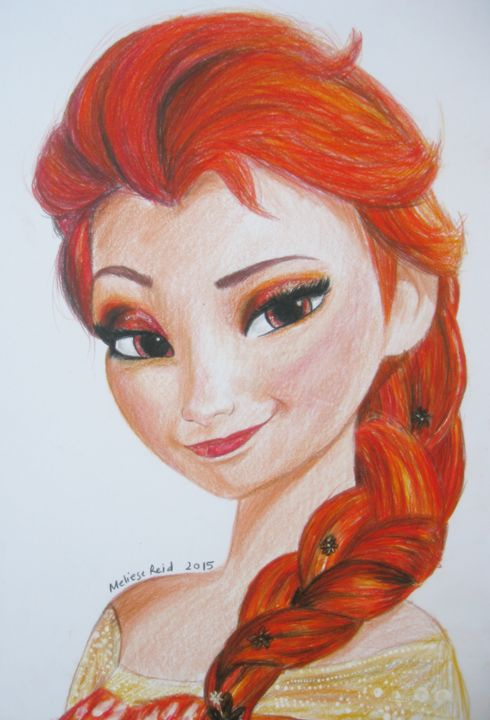 Elsa - Fire Queen - The Artwork of Meliese Reid