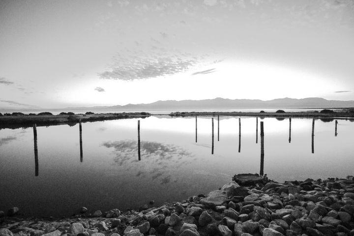 Salton Sea No. 2 (Black & White) - Crystal Enciso Photography