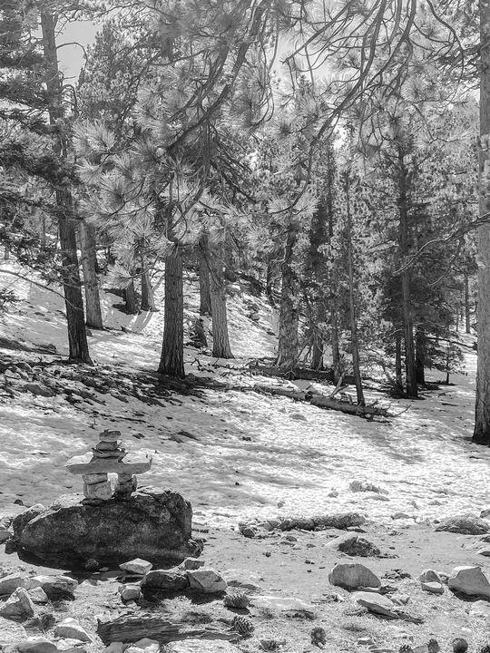 Desert Trail Balanced Stones No. 2 - Crystal Enciso Photography