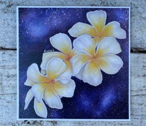 Flower Print | Frangipani Flowers | - Emely M. Sandoval
