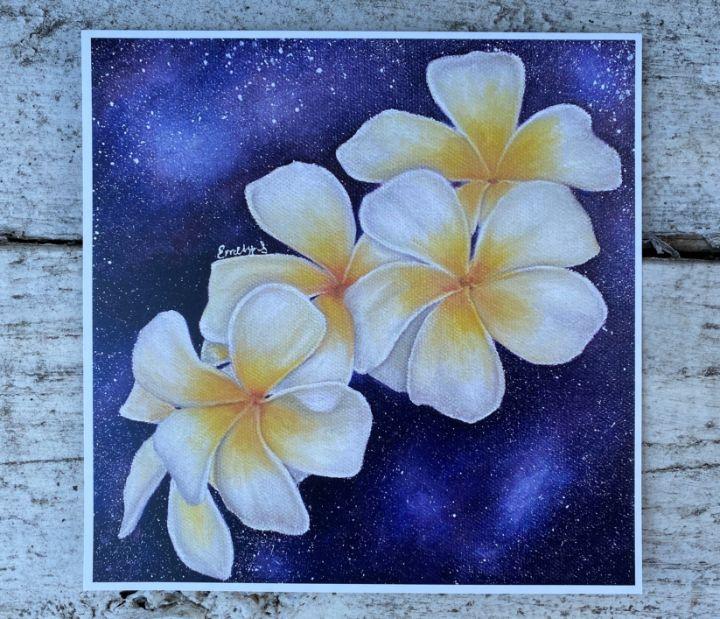 Flower Print   Frangipani Flowers   - Emely M. Sandoval