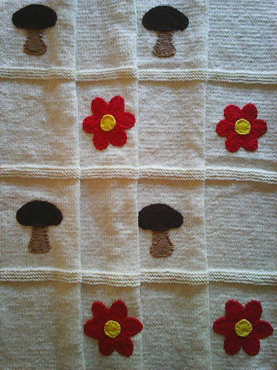 Knitted Ecru Baby Blanket - Eliza