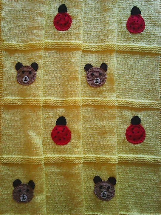 Knitted Yellow Baby Blanket - Eliza
