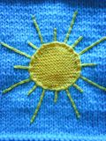 Knitted Blue Baby Blanket