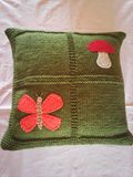 Knitted Dark Green Pillow