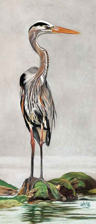 Blue Heron - Faythe Mills