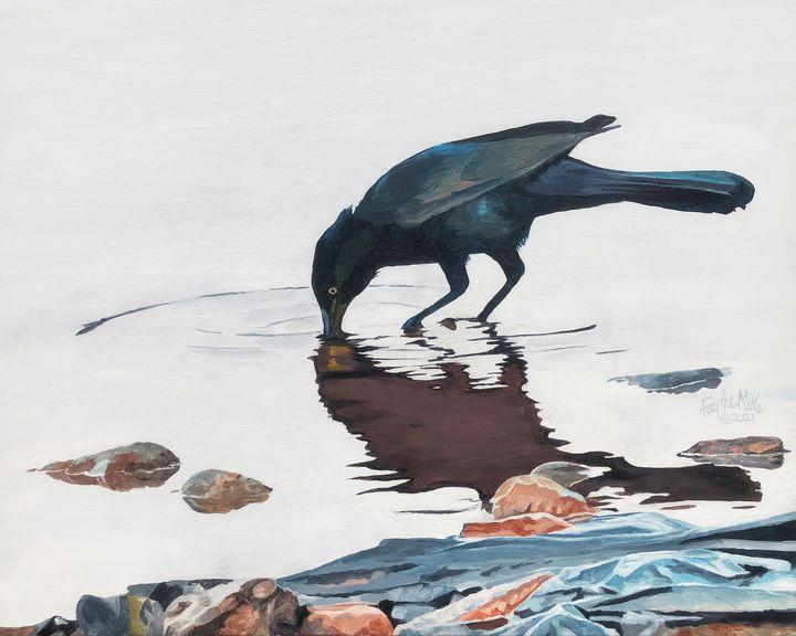 Blackbird Reflection - Faythe Mills