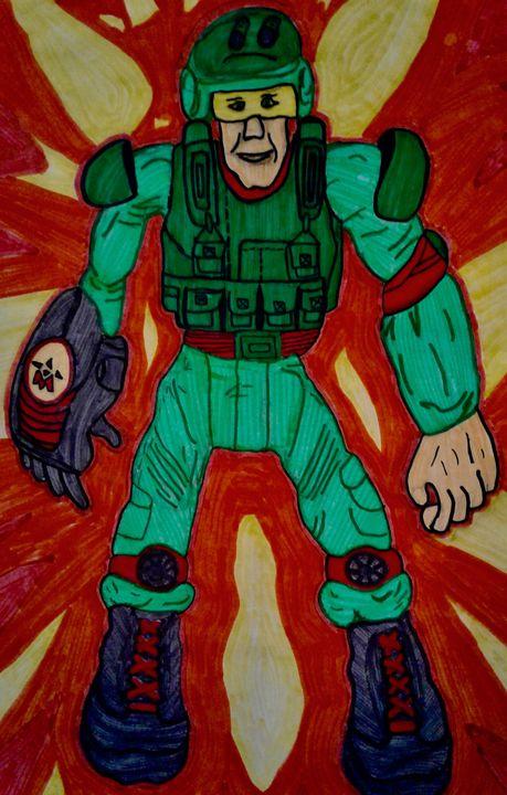 Cartoon Soldier - Genedieve