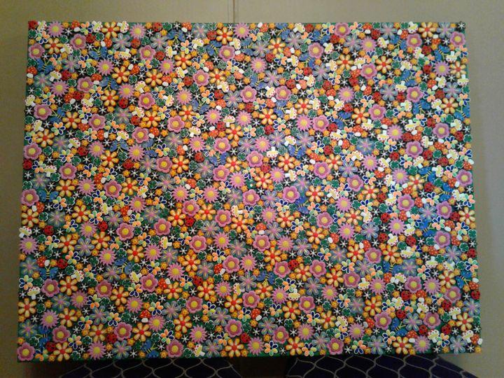 3d Collage Pop Art Flower Wall Art Genedieve Sculptures