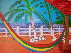 The Hammock on a paradise Island