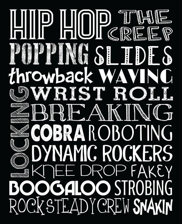 Hip Hop Dance Subway Art Poster - Friedman Gallery