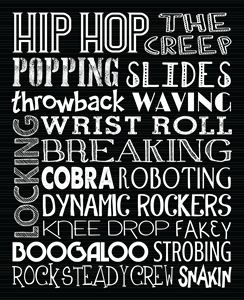Hip Hop Dance Subway Art Poster