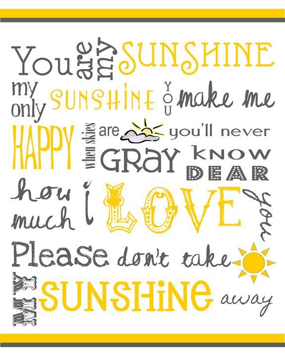 You Are My Sunshine - Friedman Gallery