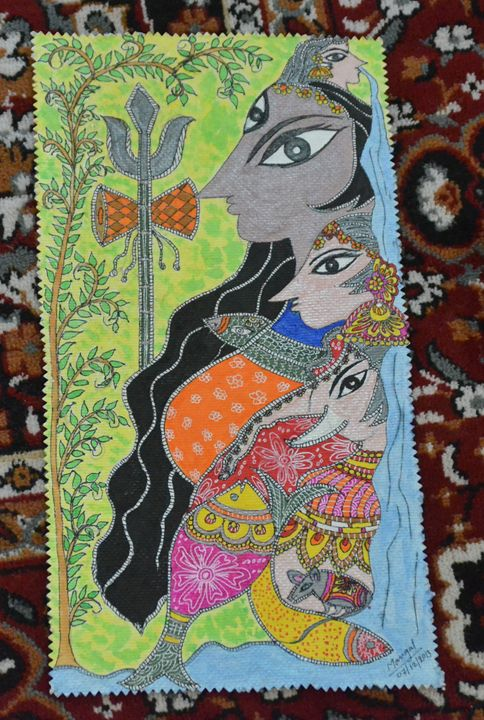 "Lord Shiva's Family - ""Paint My Brush""- Mangal Karkhanis"