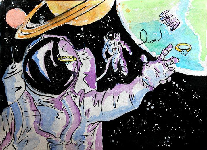 Clumsy Astronaut - Lucas Chute's Classic Art