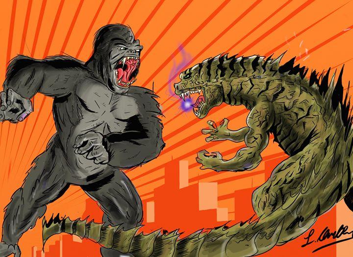 God Kong and King zilla - Lucas Chute's Classic Art