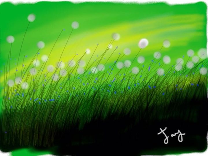 Flower - Top of the hill - Jay Asmaul Art