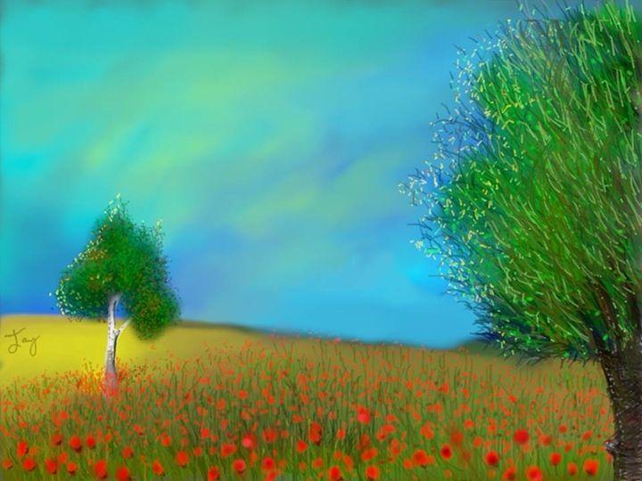 Poppies - Jay Asmaul Art