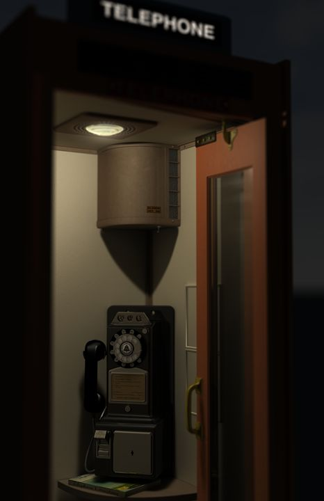 Phone Booth 1 - Abby Digital Renders