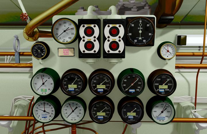 Submarine Gauges - Abby Digital Renders