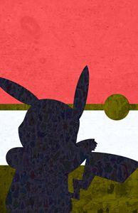 Pikachu Pokemon Pokeball Minimalist