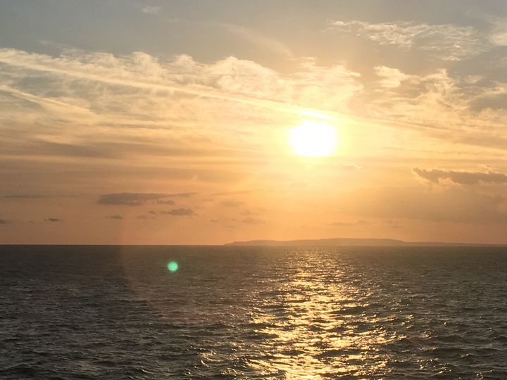 Sunset on a Cruise Ship - ExpressionsByArya