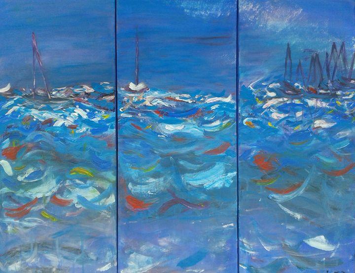Greek Seascape - Liz Fitzgerald-Taylor