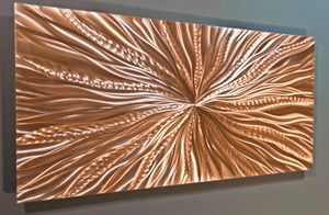 Metal Wall Art - Copper Wall Art