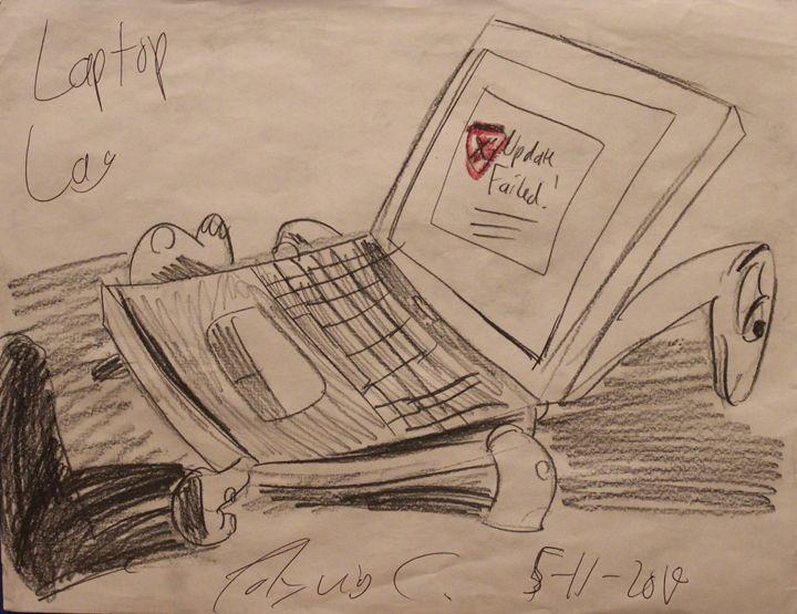 Laptop Lag - Polyvios' Paintings Etc.