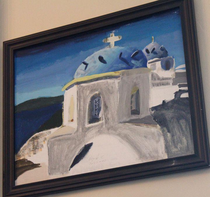 Aegean Church - Polyvios' Paintings Etc.