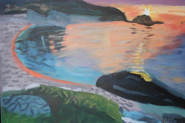 Samos Sunset - Polyvios' Paintings Etc.