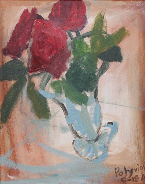 Roses in Bloom - Polyvios' Paintings Etc.
