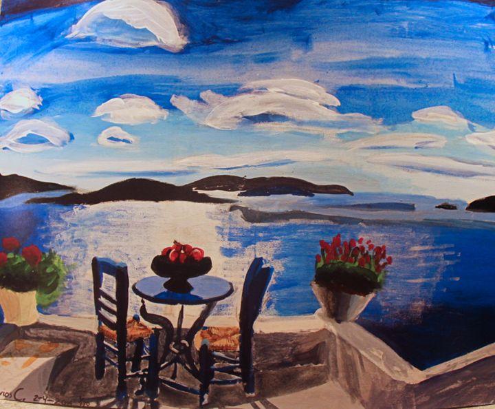 Greek Ocean View - Polyvios' Paintings Etc.