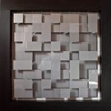 Suspended acrylic squares