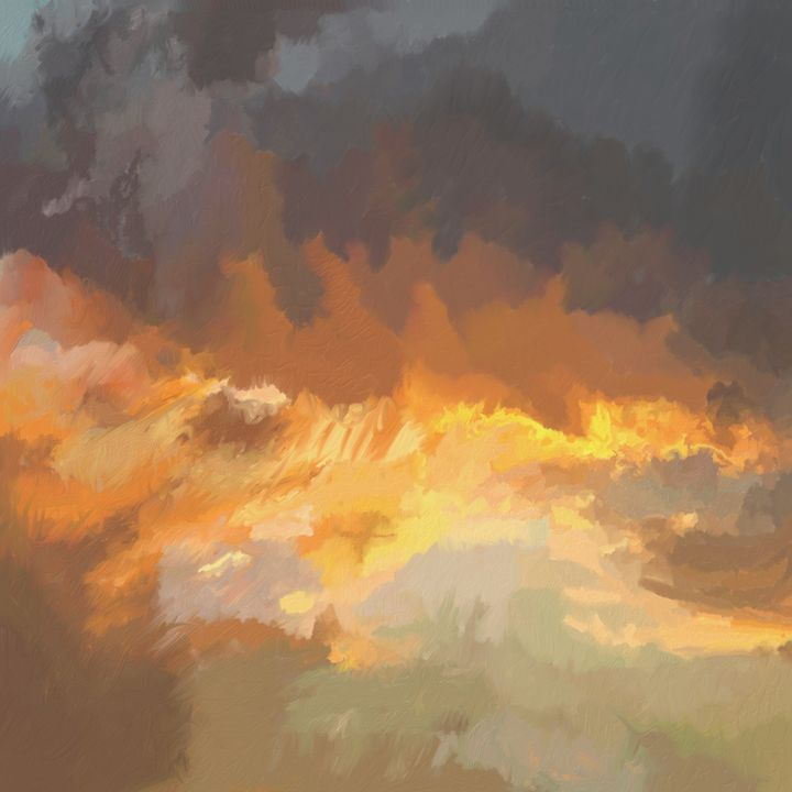 Stormy Sunset - Laurence D